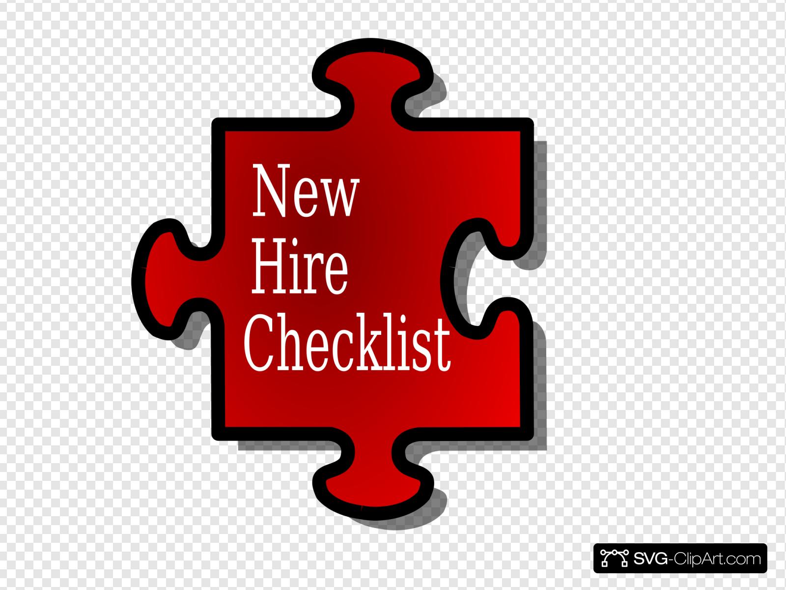 New Hire Checklist Clip art, Icon and SVG.