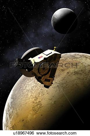 Stock Illustration of Artwork of New Horizons Mission u18967496.