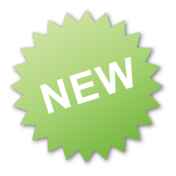 Green, label, new icon.