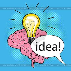 Concept of new idea.