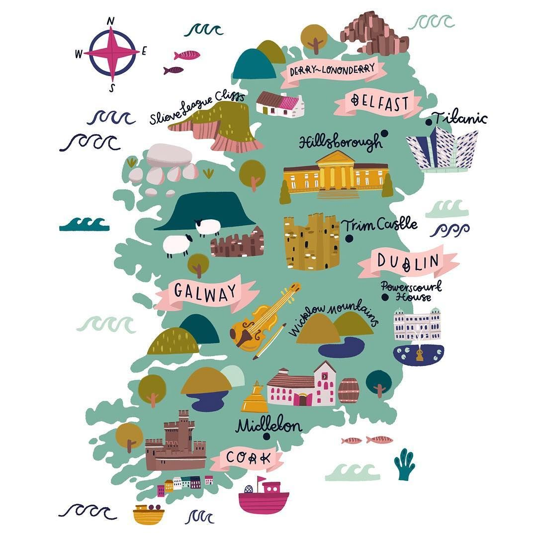 A map or Ireland I did for the Telegraph and Tourism Ireland.