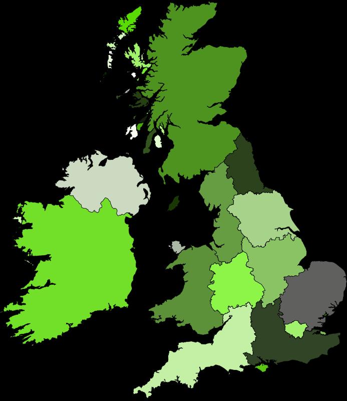 Free Clipart: UK and Ireland.