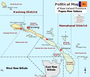 New Ireland Province.