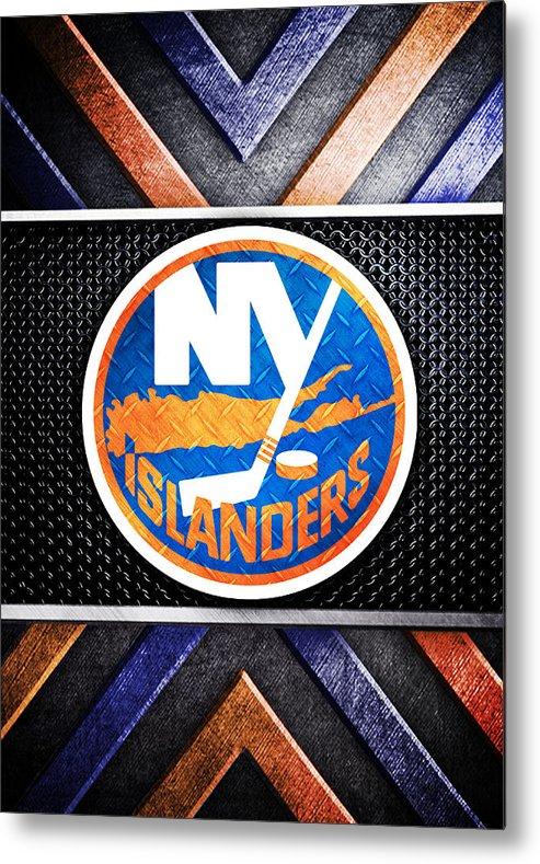 New York Islanders Logo Art 2 Metal Print.