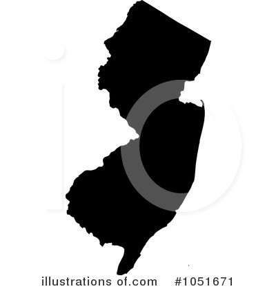 New Jersey State Borders Clipart.