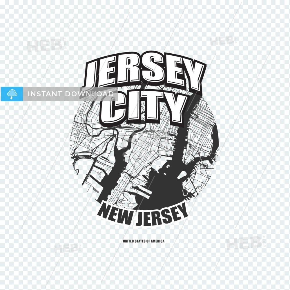 Jersey City, New Jersey, logo artwork.