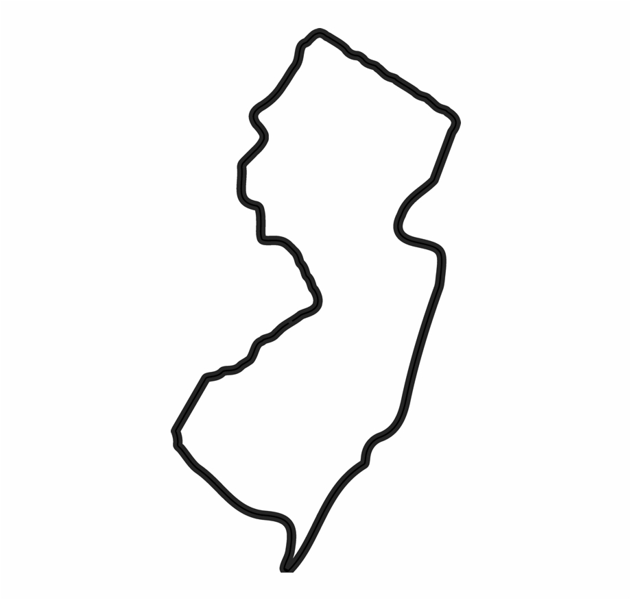 New Jersey Outline Png Image Download.