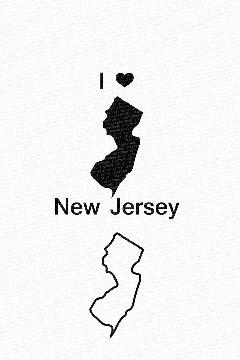 New Jersey Vector, State Clipart, New Jersey Clip Art,New Jersey Map Clip  art SVG, State png, DXF, pdf, EPS #mp.