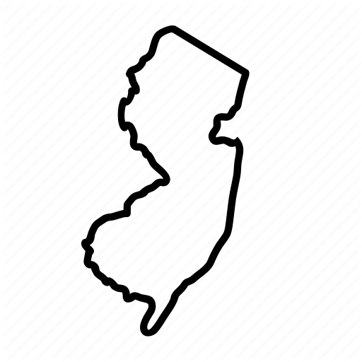 \'Thick Line US States\' by Linseed Studio.