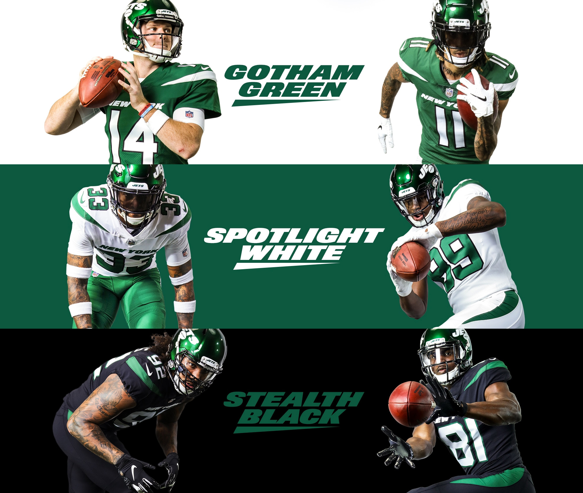 Brand New: New Logo and Uniforms for New York Jets.
