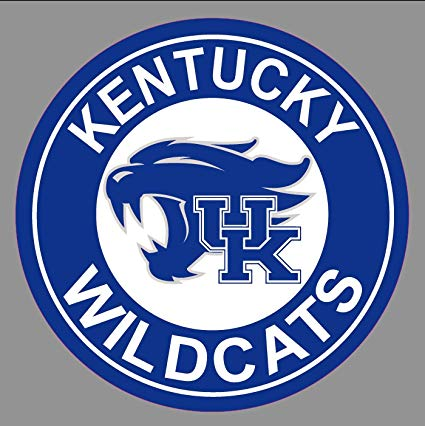 Kentucky UK Wildcats Bumper Sticker.