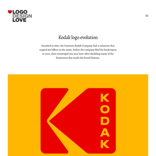 On the most recent Kodak logo, designed by Work.