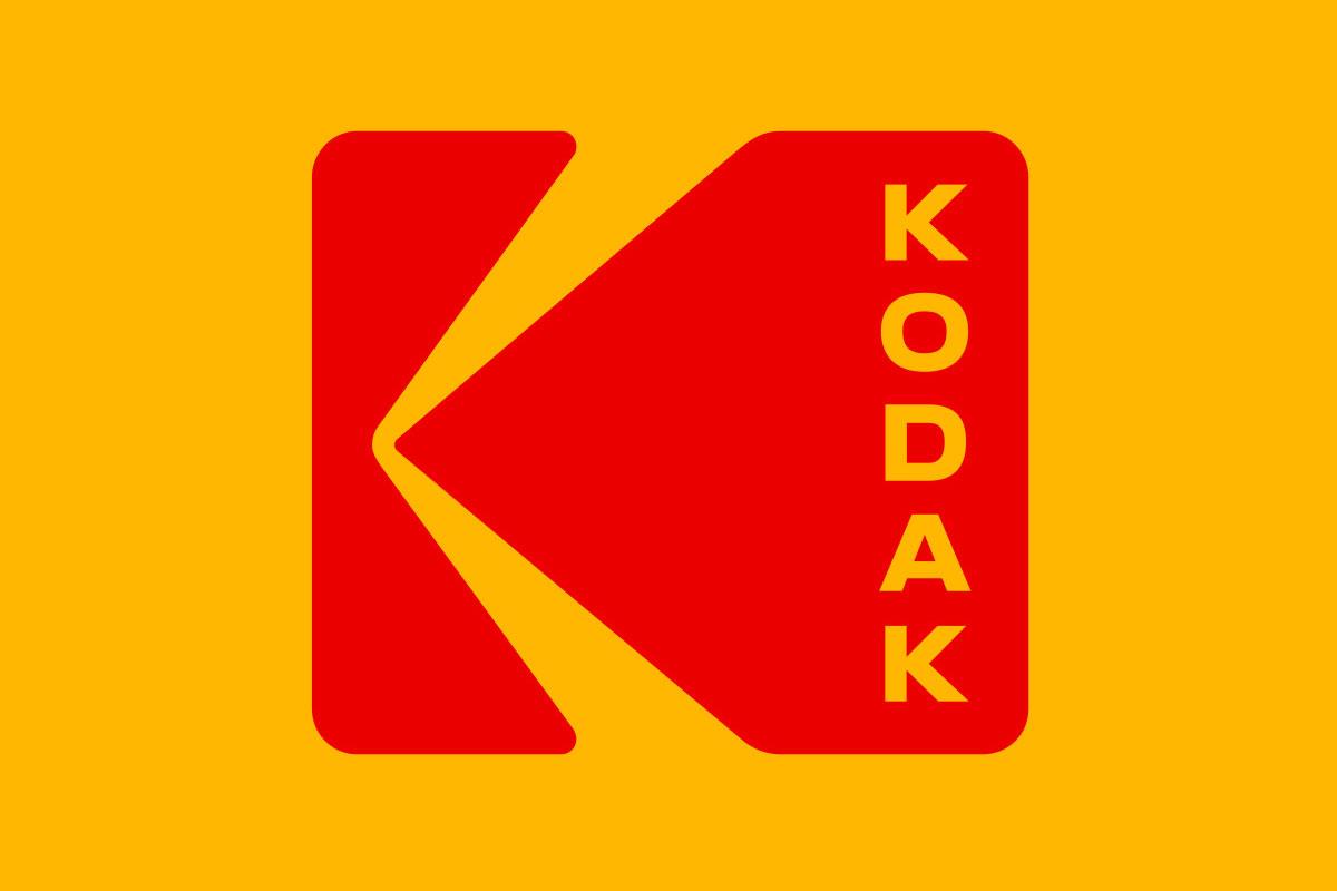 Kodak logo evolution, latest design by Work.