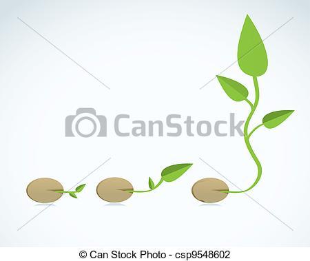 Vector Illustration of new leaf csp9548602.