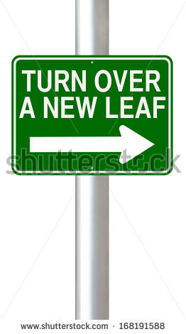 Turn Over A New Leaf Stock Photos, Royalty.