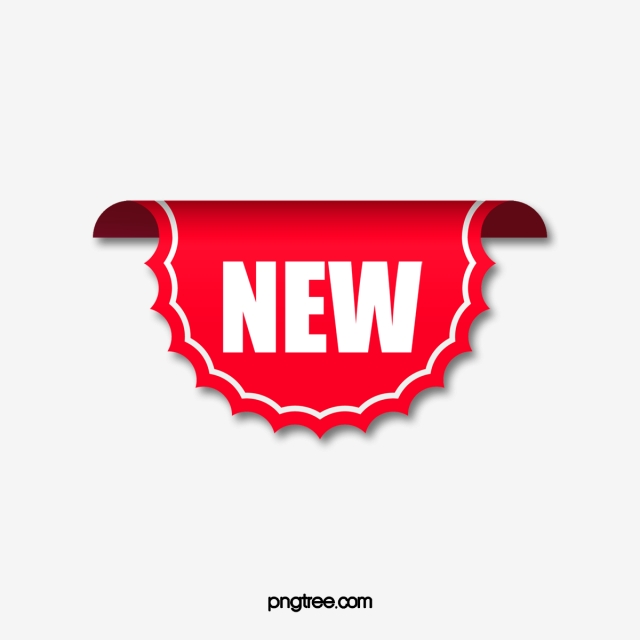 Red Polygon New Listing Promotion Label, Red Label, Red.