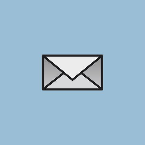 Mail message letter icon illustration.