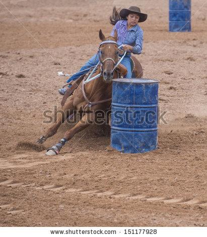 Barrel Racing Stock Photos, Royalty.
