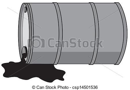 Vectors of Barrel with oil csp14501536.