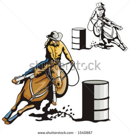 Horse Barrel Stock Photos, Royalty.