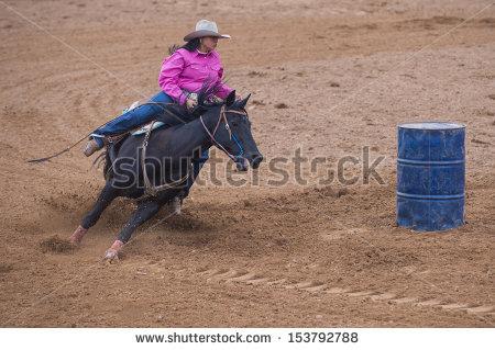 """barrel Racing"""" Stock Photos, Royalty."""