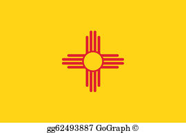 New Mexico Flag Clip Art.