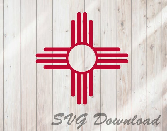 New Mexico State Flag Zia Symbol SVG Instant Download / Vinyl & Craft  Cutting File, Die cut, Template, Clip Art Digital Download.