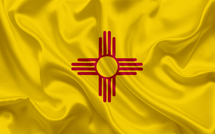 Download wallpapers New Mexico State Flag, flags of States.