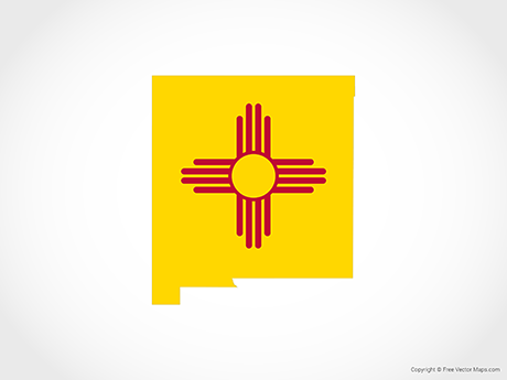 Vector Map of New Mexico.