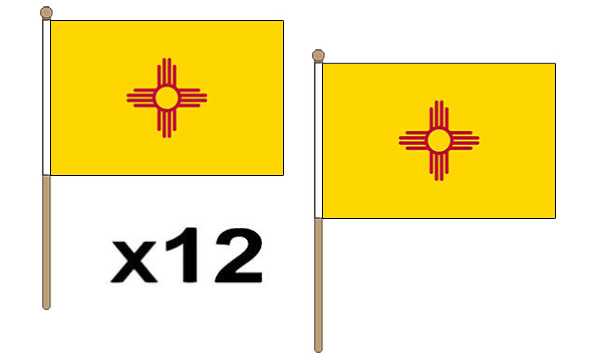 New Mexico Hand Flags (Medium).
