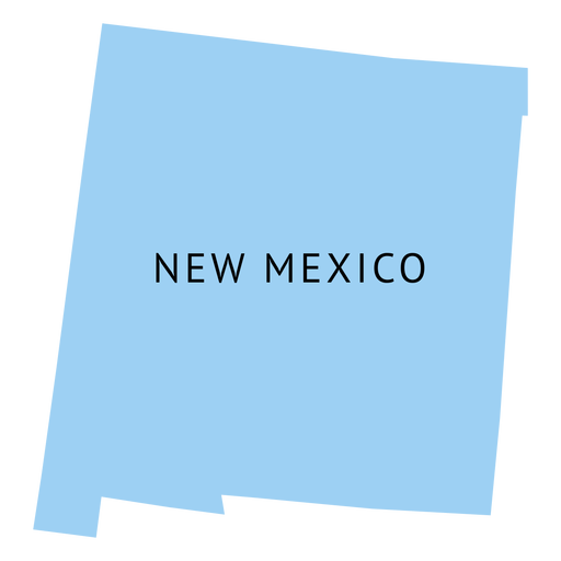 New mexico state plain map.
