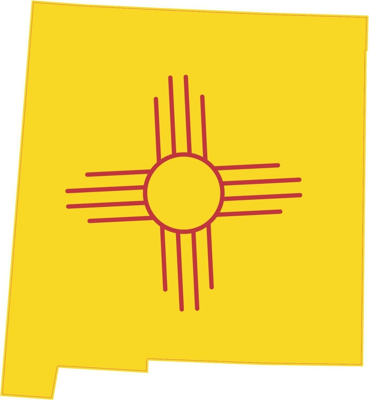5inx4.5in Die Cut New Mexico Shape State Flag Bumper Sticker Decal Stickers.