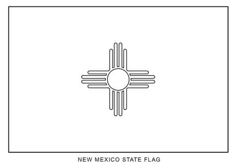 Flag of New Mexico coloring page.