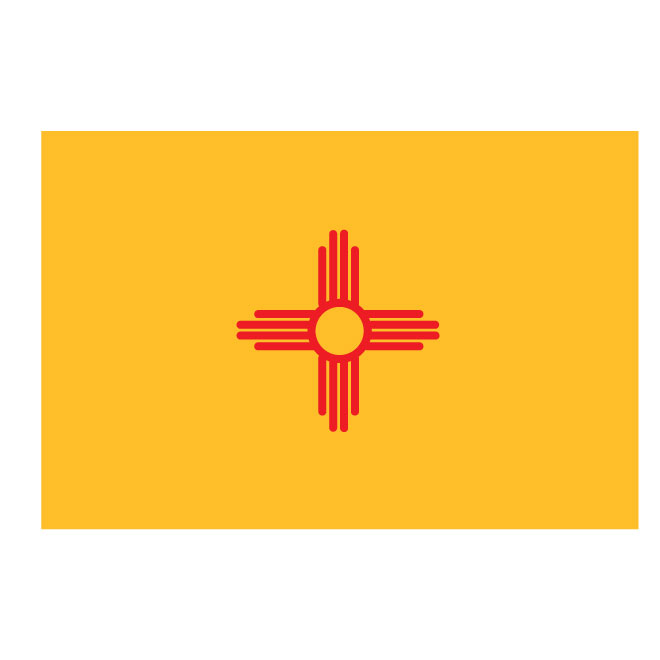 New Mexico vector flag.