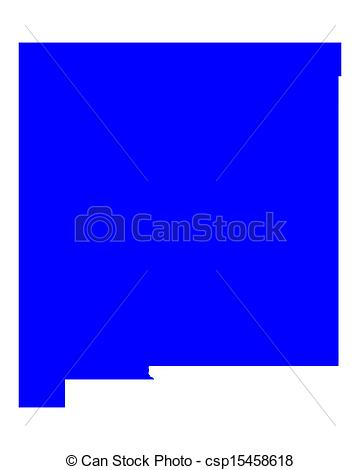 Vector Clip Art of Map of New Mexico csp15458618.