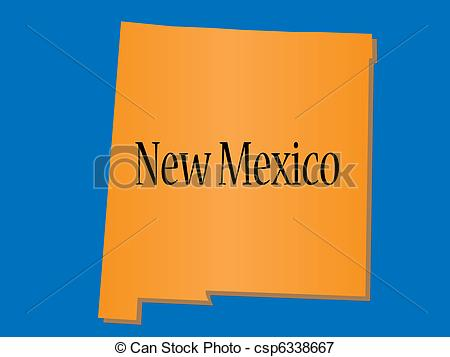 Vectors Illustration of State of New Mexico csp6338667.