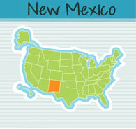 Fifty US States: New Mexico Clipart.