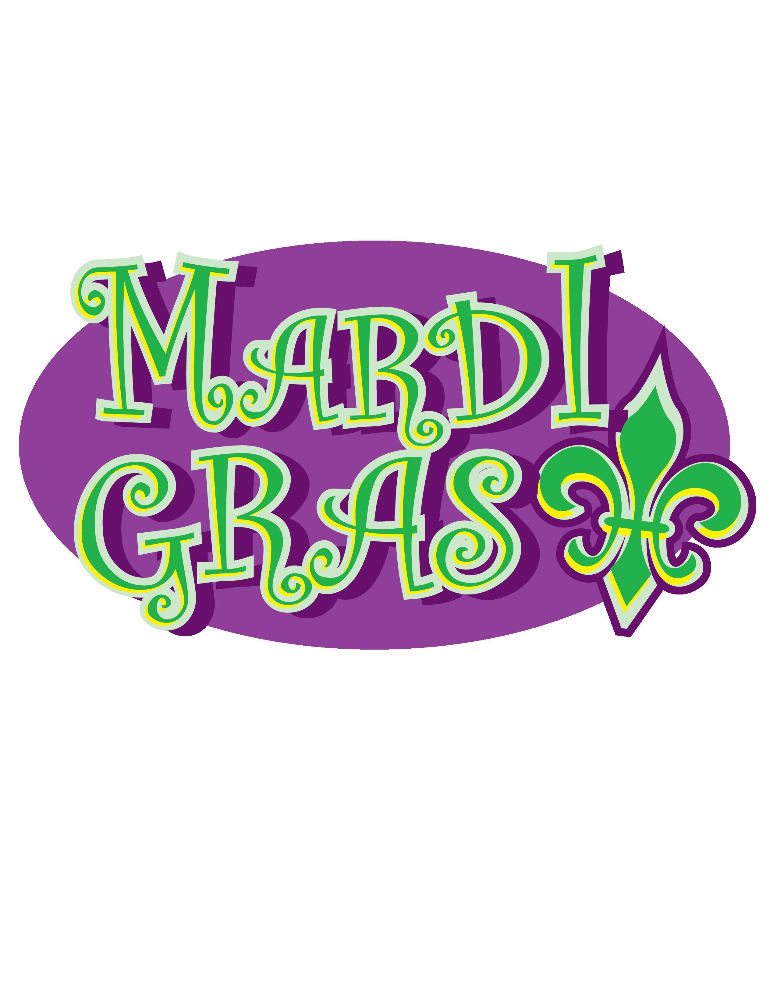 Mardi Gras Green and Purple 2 Clip Art.