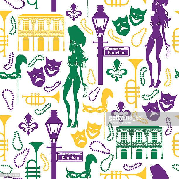 60 Top New Orleans French Quarter Stock Illustrations, Clip.