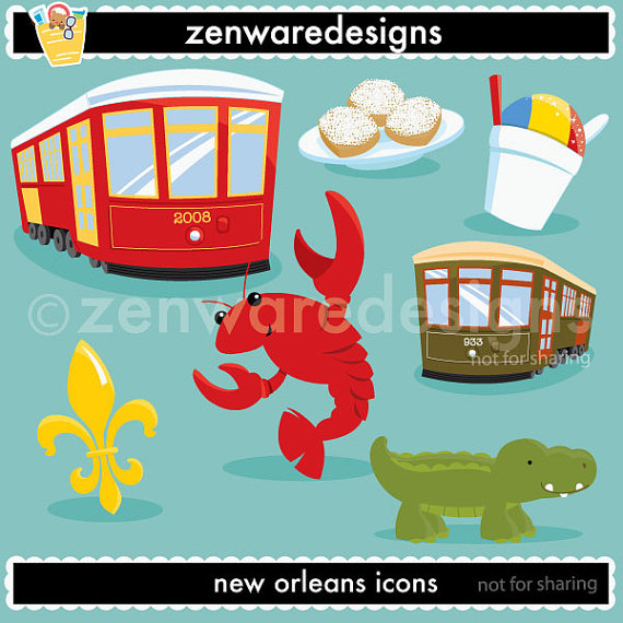 New Orleans Clipart by ZenwareDesigns on Etsy.