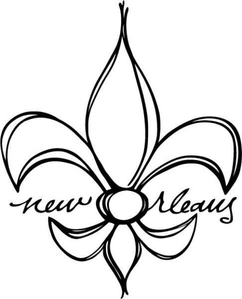 New Orleans Fleur de lis.