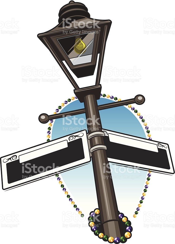 New Orleans Street Lamp Clipart.