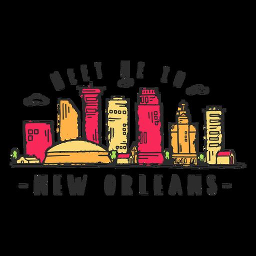 New orleans skyline sticker.