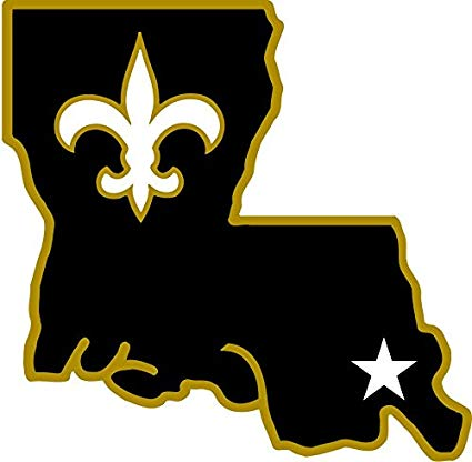 postteam New Orleans Saints NFL Football Sport Art Decor Vinyl Sticker 12''  X 12''.