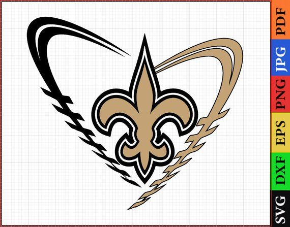 SVG files, New Orleans Saints, NFL for printing, New Orleans.