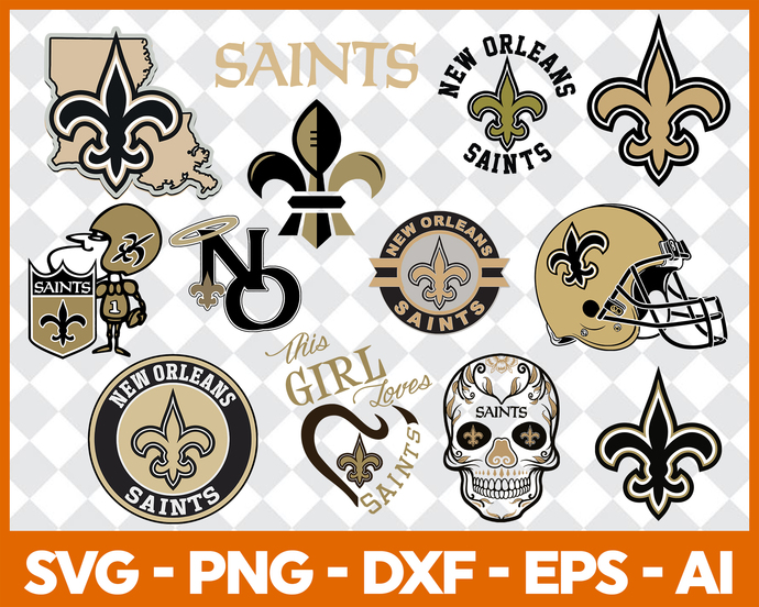 New Orleans Saints, New Orleans Saints svg, New Orleans Saints clipart, New  Orleans Saints logo, New Orleans Saints cricut.
