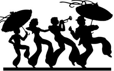 mardi gras clip art black and white.
