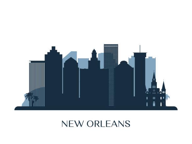 Best New Orleans Skyline Illustrations, Royalty.