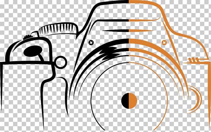 Photography Logo Camera, Digital Camera Stroke, black and.