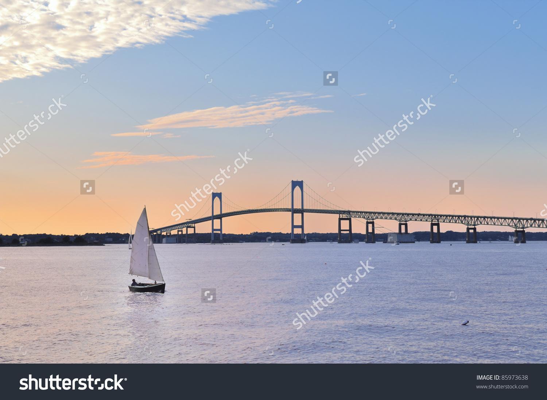 Newport Bridge Clip Art.